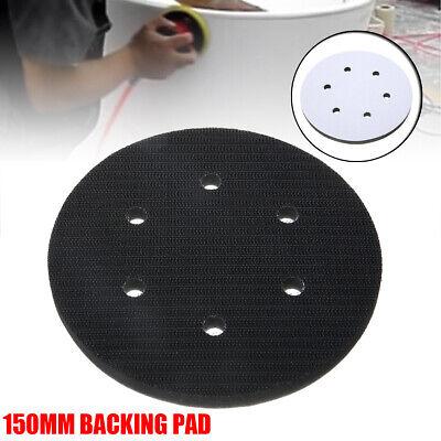 6 Inch Interface Cushion Pad 150mm 6Hole Hook /& Loop Foam Sanding Disc