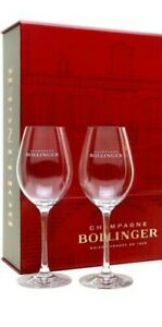 Bollinger-Champagne-Glass-Flutes-X-2-brand-New-with-Bollinger-Box