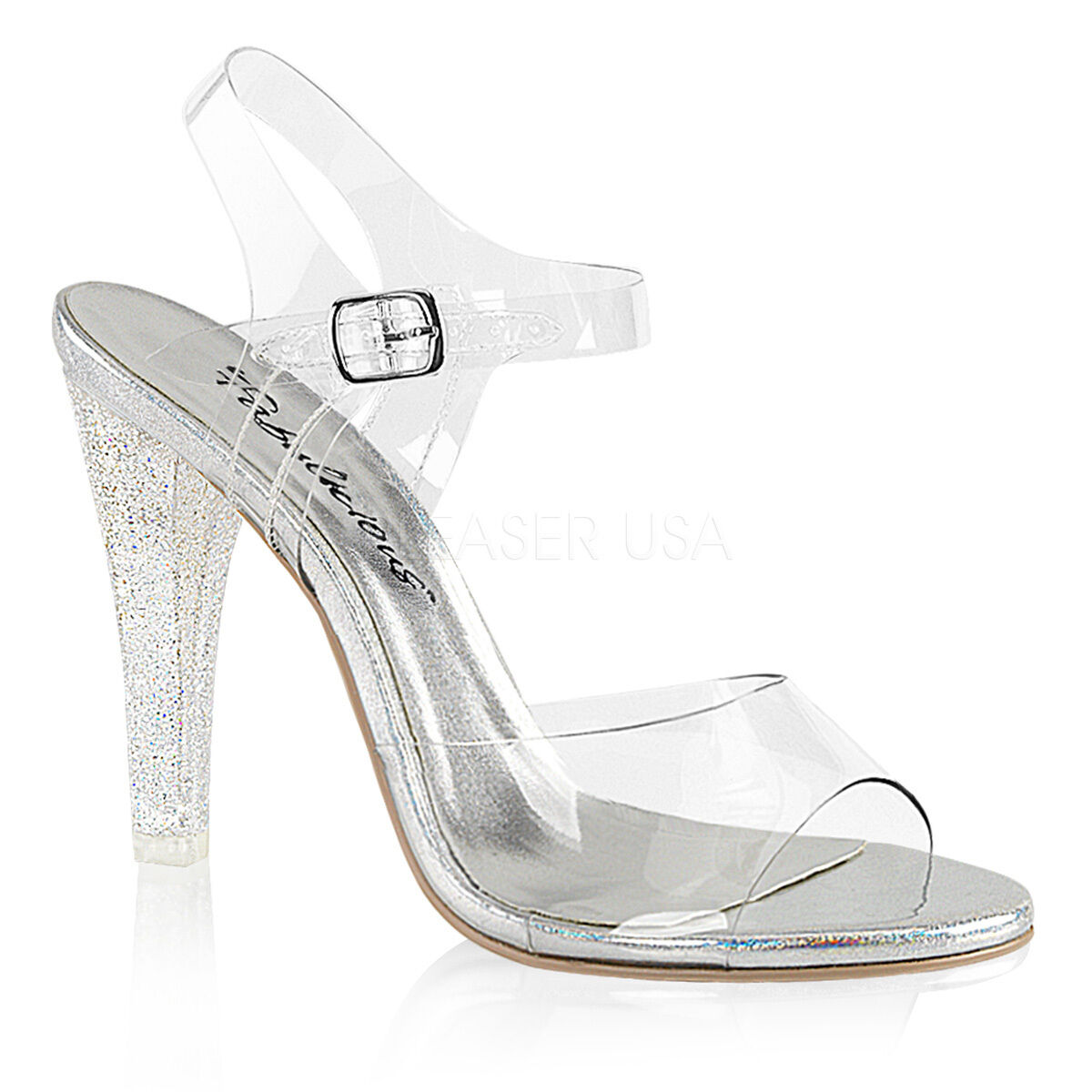 PLEASER Sexy 4 1 2  High Heels Pageant Prom shoes w  Mini Iridescent Glitters