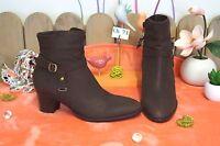 Chaussures Bottines En Cuir Marron  Gémo ... Neuve ... Pointure : 38