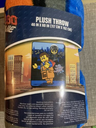 "Good// Bad Cop 46x60"" Be a Ground Breaker NWT LEGO Movie Plush Throw Blanket"