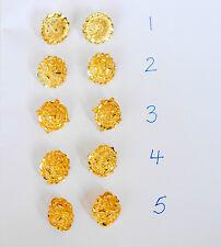 22 k  Gold plated Stud Earrings Indian fashion  earrings designer earring  h61