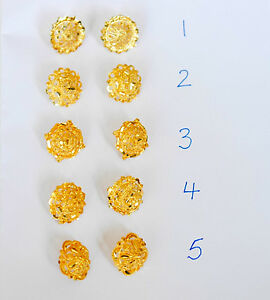 b5372febe 2 PAIRS OF EARRINGS 22 k Gold plated Stud Earrings Indian earrings ...