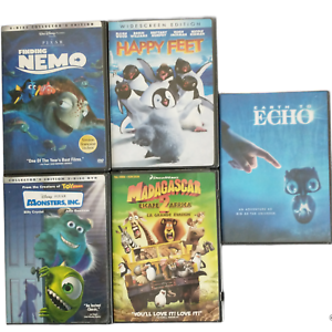 Children Animation Movies Lot of 5 Kid's DVD Finding Nemo Happy Feet Monsters