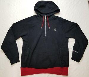 4 zip pullover hoodie men sz M black