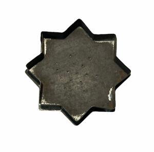 Vintage Antique primitive Metal Cookie Cutter 8 Pointed Star Octagram Essenes