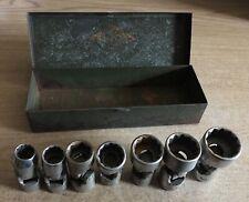"SK 1867 7 pc. Metric Socket Set-USA Made! Deep Universal Spline 3//8/"" drive"