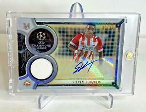 Steven Bergwijn Topps PSV Rookie Patch Autographed Soccer Card 86/99 Tottenham