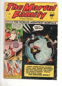 Marvel-Family-59-Fawcett-1951-SHAZAM-FAMILY-Saves-Earth-GREAT-COVER-VG-3-5