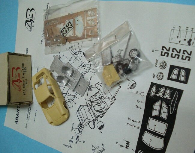 ABARTH SIMCA 1300 short Imola' 65 n°52 amarillo -  w-m & resin Model 43 KIT 08