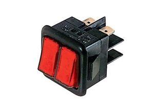 Interruttore-a-bilanciere-doppio-220V-16A-unipolare-tasto-rosso-luminoso-30x27mm