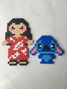 Détails Sur Pixel Art Perles A Repasser Lilo Et Stitch De Disney Princesses