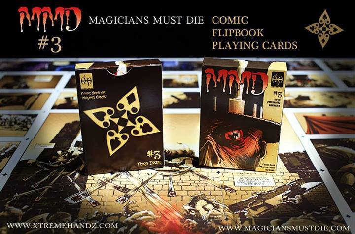 Carte da gioco MAGICIAN MUST DIE DIE DIE 3,comic deck,poker Tamaño  gran descuento