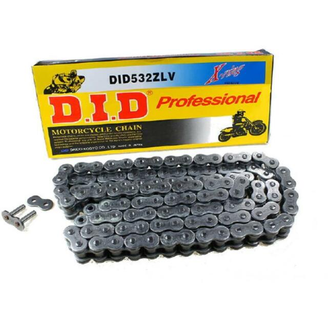 Chain DID 532ZLV No Links 118 Open with Closure A Rivet