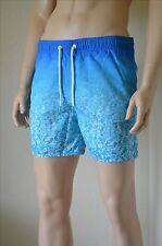 Abercrombie & Fitch Campus Fit Graphic Swim Tugger Shorts Pool / Sea Blue L £60