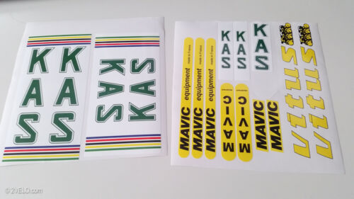 KAS VITUS MAVIC decal set sticker for complete bicycle free shipping