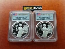 2016 W & S AMERICAN LIBERTY PROOF SILVER MEDAL PCGS PR69 DCAM FLAG FIRST STRIKE