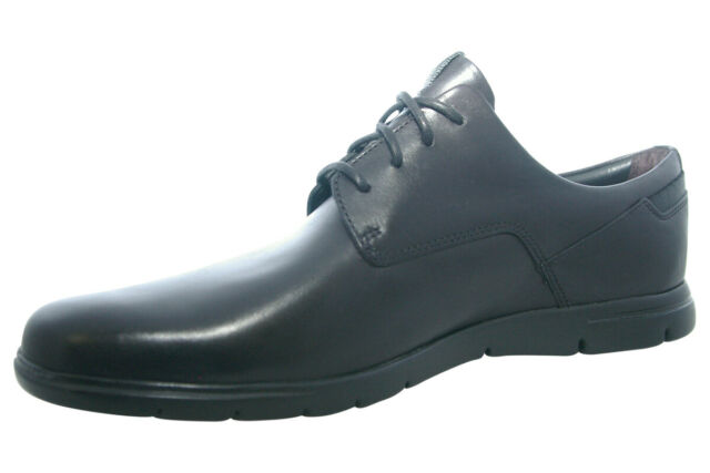 Clarks Vennor Walk Black Leather / Grey