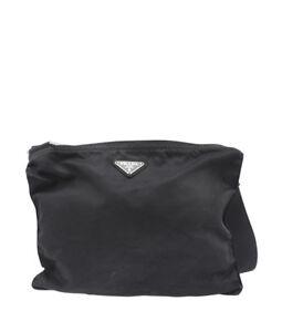 cb05478b46 Image is loading Prada-Black-Nylon-Crossbody-Bag