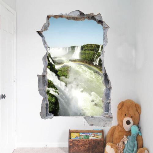 Nature Paysage Cascade stickers 3D Wall Art Mural Chambre Bureau Shop DECOR VU9