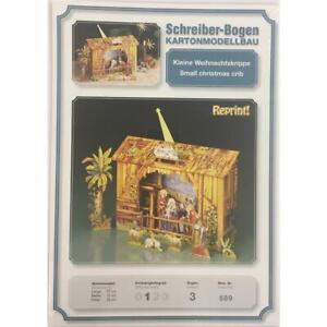 Writer-Sheet-Kartonmodellbau-Small-Christmas-Crib-Aue-verlag-589