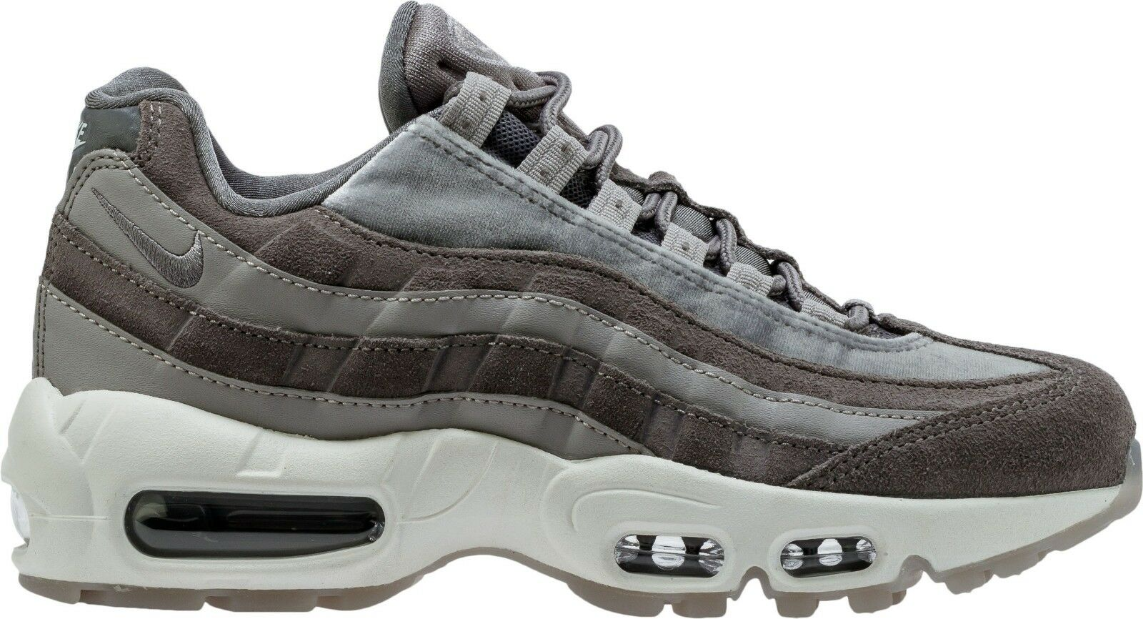 Nike Air Max 95 LX Luxe Gunsmoke Grey Suede Leather Wmns SZ 8  [AA1103-003]