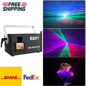 1.5w RGB Laser 3D-Effekt Scanner Projektor ILDA DMX Stage Lightning Laser Show