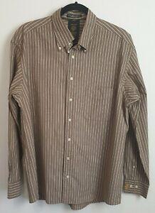 Gant-Men-039-s-Long-Sleeve-Regular-Fit-Pin-Stripe-Shirt-Size-L