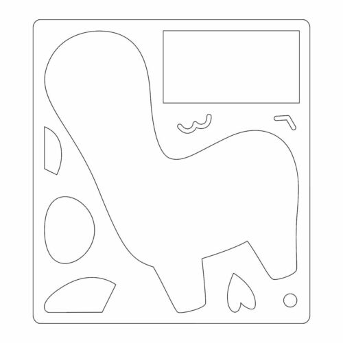 1 stanzschablone Trend animaux lama paresseux Licorne faon Sizzix Bigz