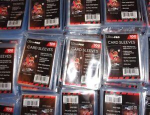 Lot-de-100-protections-de-cartes-CARD-SLEEVES-ULTRA-PRO-POKEMON-etc-Neuf