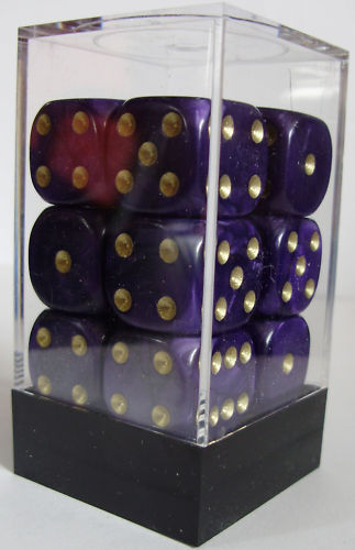 6 SIDED /& 15mm SIDES !! PACK OF 12 PEARL PURPLE DICE
