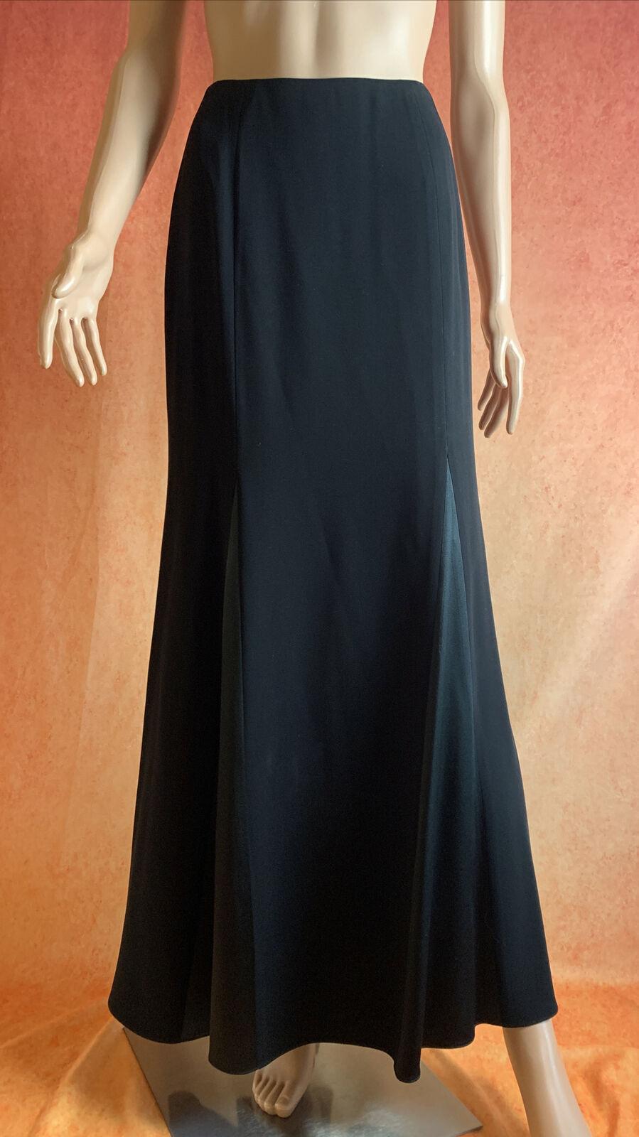 Vintage CARLISLE Black Mermaid Maxi Skirt Silk Bl… - image 1