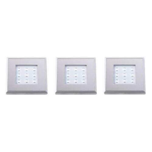 2 confezioni da 3 Enluce LED luce basamento EL-10080