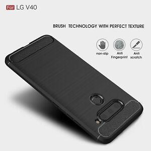 For-LG-V50-V40-G8-G7-ThinQ-Phone-Case-Brushed-Carbon-Fiber-Shockproof-Slim-Cover