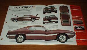 Image Is Loading  Mustang Shelby Gt Original Imp Brochure Specs