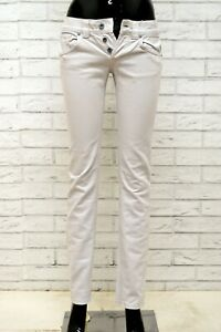 Jeans-Donna-DONDUP-GLASS-Taglia-25-Pantalone-Pants-Woman-Slim-Skinny-Fit-Grigio