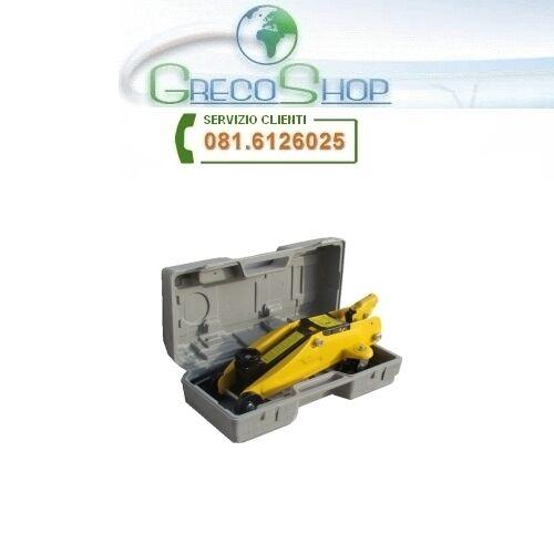 Cric//Sollevatore idraulico a carrello 2000Kg con valigetta in plastica