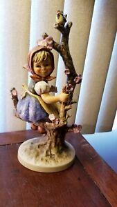 Goebel-Hummel-Rare-Vintage-1968-Apple-Tree-Girl-WIth-Bluebird-141-V-TMK-4