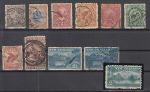 D3059-NEW-ZEALAND-SG-246-252-253a-254-257-258-USED-CV-405