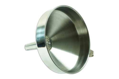 Laser Tools 7366 Stainless Steel Funnel 20 cm Diameter With Filter