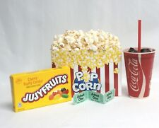 Fake Food Movie Night Theater Props Snaks With Box Of Popcorn And Candy