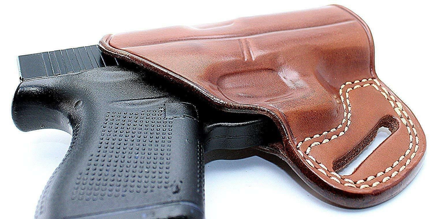 Leder Pancake Holster Fits S&W Shield .45 w/Thumb Safety Barrel 3.3
