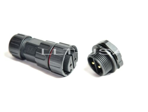 Waterproof Connector LLT-USA M25 IP68 2 Pin Rear Panel Mount Male Female Plugs