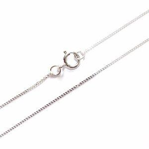 9ct-White-Gold-Fine-Lightweight-Diamond-Cut-Curb-Chain-Necklace-16-034-18-034-20-034