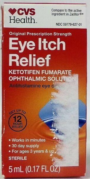 cvs eye itch relief eye drops 5ml  4aa for sale online