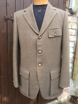 Austin Reed Pure New Wool Herringbone Tweed Jacket 40 Long Unworn Clean Ebay
