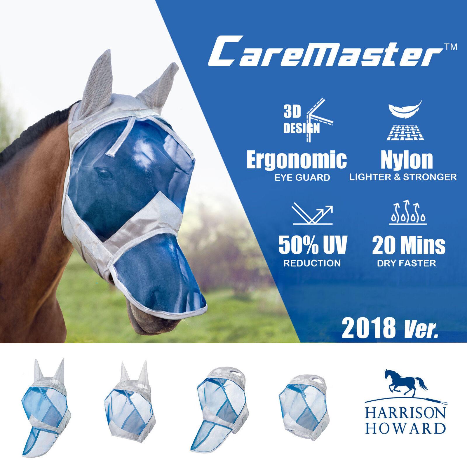 Harrison Howard CareMaster Fly Mask Full Face Hawaiian bluee