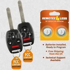 2 For 2006 2007 2008 2009 2010 2011 2012 2013 Honda Civic Remote Car Key Fob