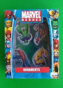 image is loading marvel heroes pack of 4 metal christmas ornaments