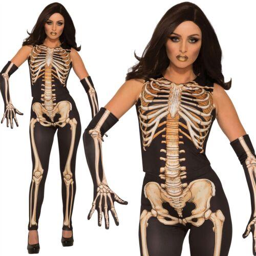 Adult Ladies Day of the Dead Skeleton Lady Bones Costume Fancy Dress Halloween